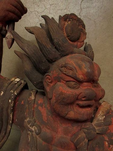 Antique Japanese Raijin God of Lightning, Thunder, and Storm