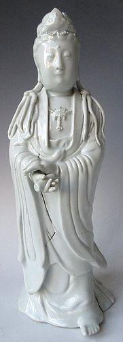 Antique Chinese Blanc de Chine Quan Yin