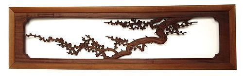 Antique Japanese Plum Branch Ranma (transom)