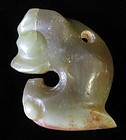 Chinese Jade Hongshan Culture Pig Dragon (Zhulong)
