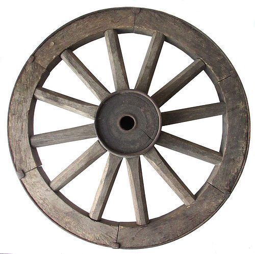 Antique Japanese Set of 4 Wagon Wheels