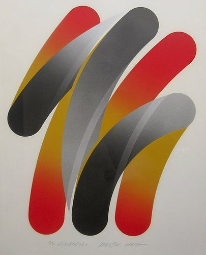 Japanese Framed Contemporary Abstract Print by Takeshi Hara