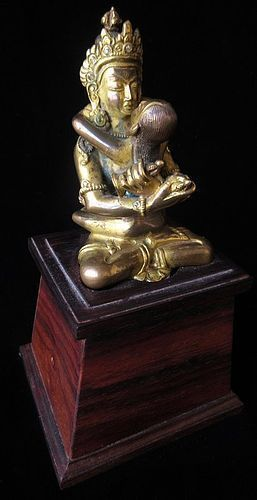 Antique Tibetan Gilt Bronze Yabyum Deities