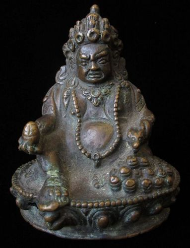 Antique Tibetan Bronze Kubera