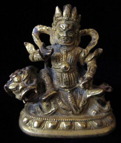 19th Century Gilt Bronze Kubera