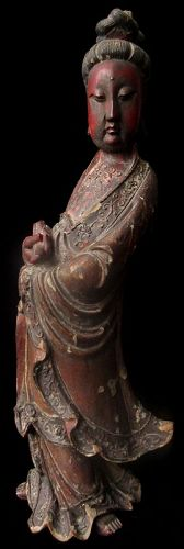 Antique Chinese Quan Yin Statue