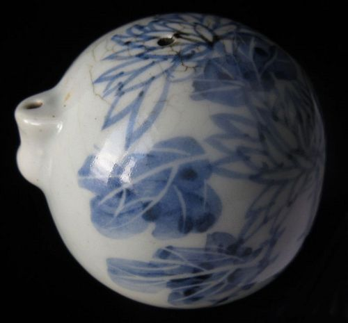19th Century Korean Blue and White Porcelain Water Dropper
