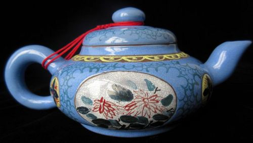 Chinese Glazed Yixing Teapot