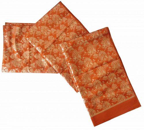 Japanese Silk Fabric with Gold Thread