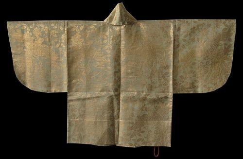 Japanese Ceremonial White and Gold Haori Coat