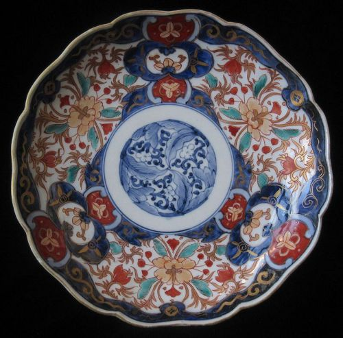 Antique Japanese Set of 10 Imari Plates