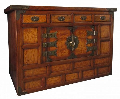 Antique Korean Bedside Chest - Korean, Furniture From The Zentner Collection Of Antique Asian Art