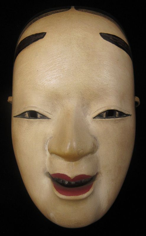 Antique Japanese Onna Noh Theatre Mask