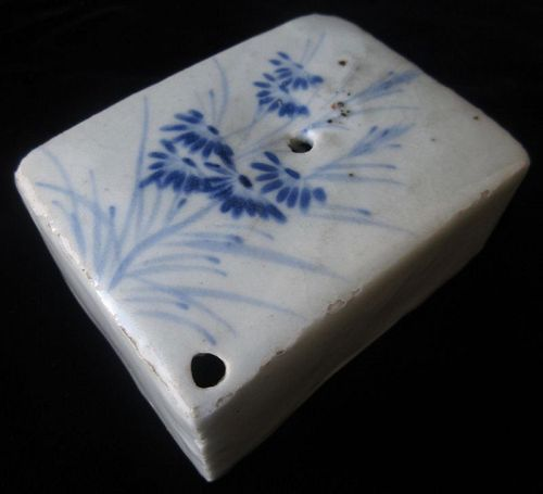 Signed Korean Blue and White Water Dropper