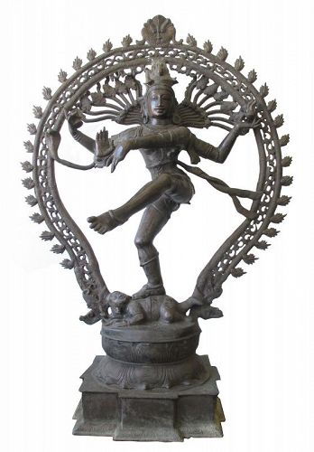Indian Large Bronze Statue of Shiva-Nataraja, Lord of the Dance
