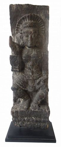 18th Century Indian Wood Carved Figure