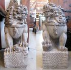 Chinese 19th Century Pair of Large Stone Lions