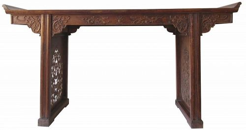 Antique Chinese Huanghuali Altar Table