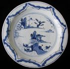 Ko-sometsuke Blue and White Porcelain Plate with Boats