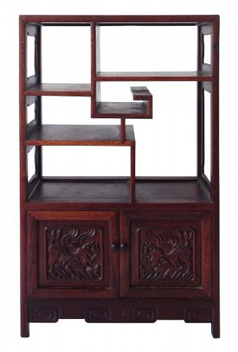 Chinese Small Hardwood Display Cabinet