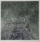 """Snow and Thatched Roof"" by Tanaka Ryohei, etching and aquatint, 1993"