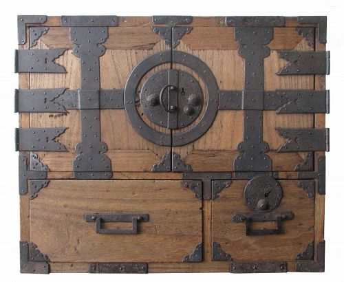 Japanese Antique Small Kannon Biraki Chest