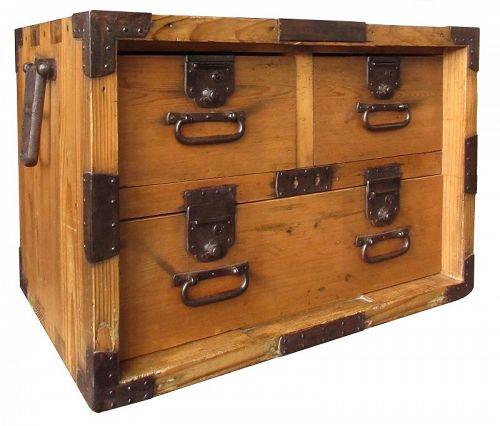 Antique Japanese Hinoki Safe Tansu. Japanese  Furniture from The Zentner Collection of Antique Asian art
