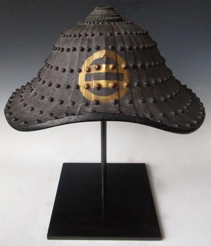 Antique Japanese Ashikaga Clan Jingasa (Samurai Helmet)