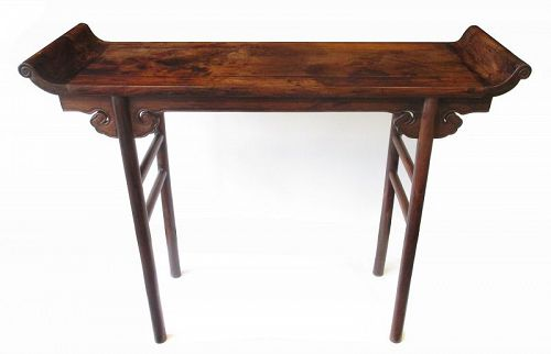 Chinese Antique 17th Century Haunghuali Altar Table
