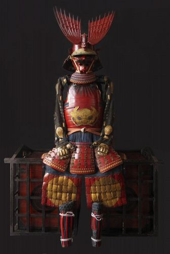 17th/18th Century Japanese Red Lacquered Armor