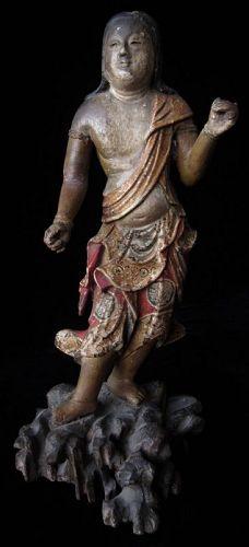 Japanese Momoyama Figure of Fudo