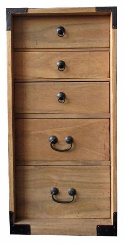 Antique Japanese Tall Kiri Box