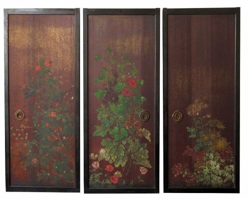 Japanese 3 Fusuma Sliding Doors & Japanese Furniture Tables Doors Misc from The Zentner Collection
