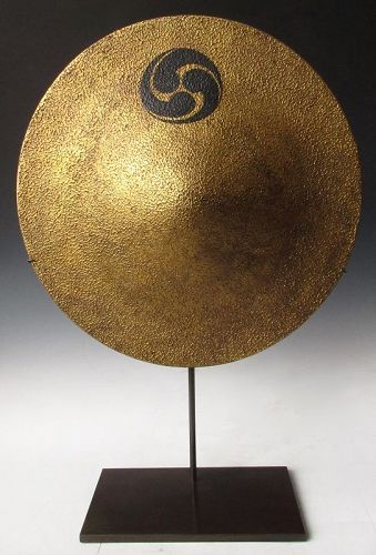 Pair of Japanese Gold Lacquered Jingasa
