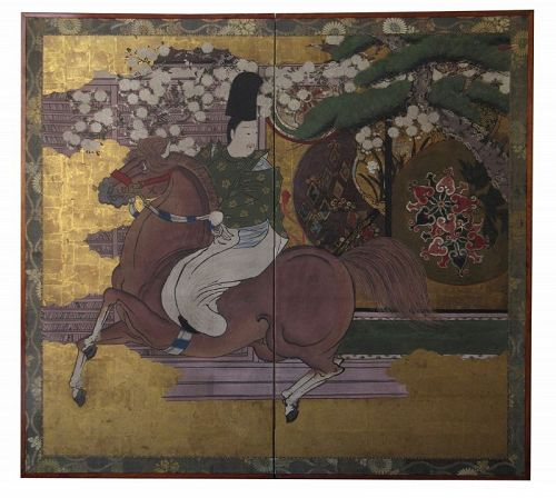 Portrait of Daimyo Maeda Toshinaga on Horseback
