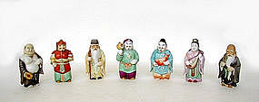 Japanese Porcelain Group of 7 Lucky Gods
