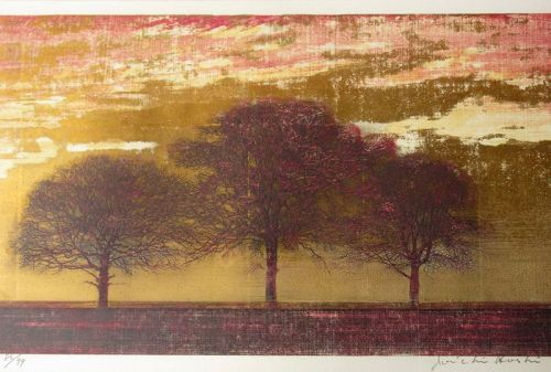 Large Japanese Print by Joichi Hoshi