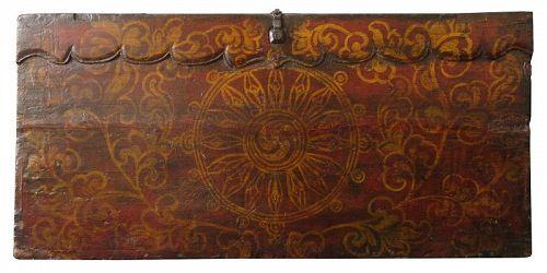 Antique Tibetan Rare Painted Trunk
