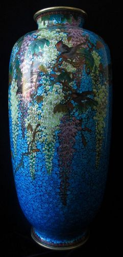 Antique Japanese Large Ginbari Vase