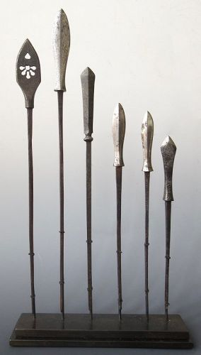 Antique Japanese Set of Samurai Arrows (Yajiri)