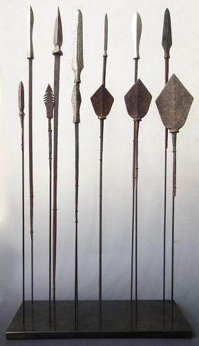 Antique Japanese Set of Samurai Arrows (Yajiri)