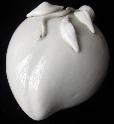 Antique Chinese Blanc de Chine Porcelain Peach