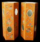 Antique Chinese Pair of Porcelain Hat Stands