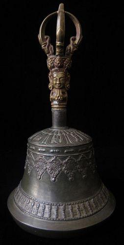 Antique Tibetan Bronze Ceremonial Bell