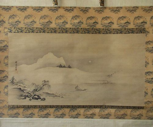 Japanese Scroll Painting by Kano Tanyu
