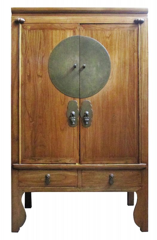 Chinese Large Elm Wood Cabinet