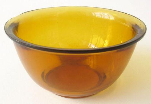 Chinese Amber Peking Glass Bowl