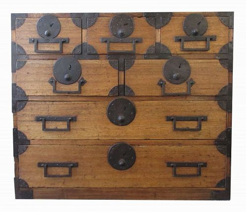 Japanese Antique Small Kiri Tansu - Antiques, Regional Art, Asian, Japanese, Furniture Trocadero