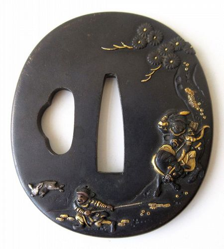 Antique Japanese Bronze Tsuba