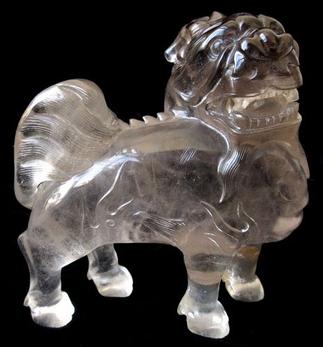 Antique Chinese Crystal Mythical Qilin